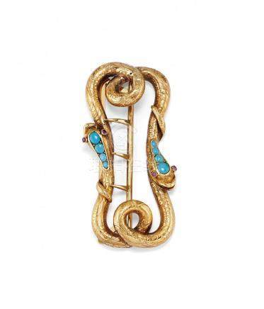 antique turquoise and ruby belt buckle