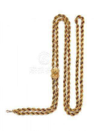 ANTIQUE YELLOW GOLD NECKLACE