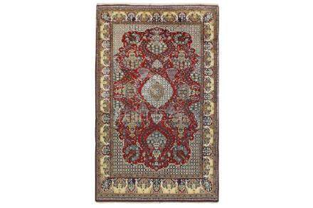 A FINE QUM RUG, CENTRAL PERSIA approx: 7ft.5in. x