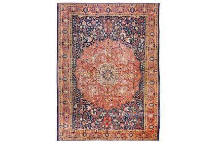 AN ANTIQUE TABRIZ CARPET, NORTH-WEST PERSIA approx: