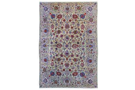 A FINE KASHAN CARPET, CENTRAL PERSIA approx: 9ft.6in. x