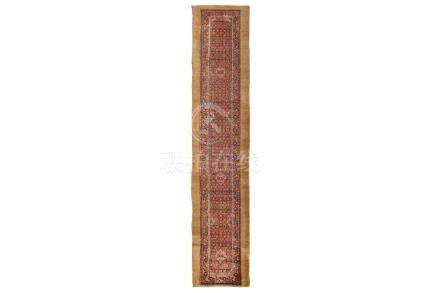 AN ANTIQUE SERAB RUNNER, NORTH-WEST PERSIA approx: