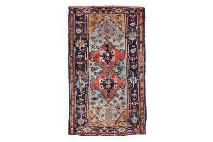 AN ANTIQUE HAMADAN RUG, WEST PERSIA approx: 6ft.11in, x