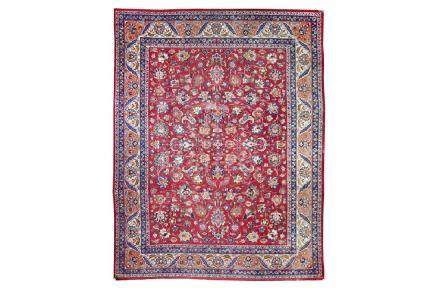 A FINE SIGNED MESHED CARPET, NORTH-EAST PERSIA approx: