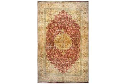 AN EXTREMELY FINE SILK INDIAN CARPET approx: 19ft.3in.