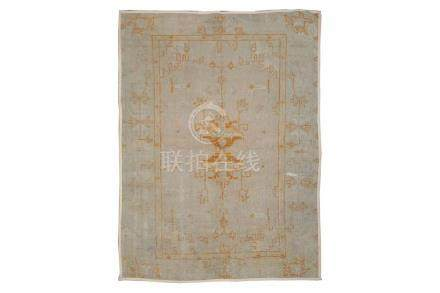 AN ANTIQUE USHAK LARGE RUG, TURKEY approx: 7ft.3in. x