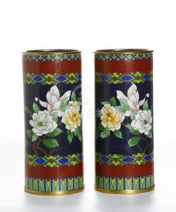 Pair of  Cloisonne Hat Stands
