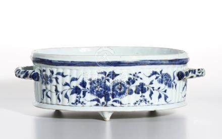 Blue and White Oval Basin, Christie's
