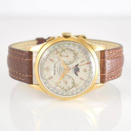 ONSA 18k yellow old chronograph with complete calendar