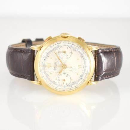ZODIAC 18k yellow gold intermediate wheel chronograph