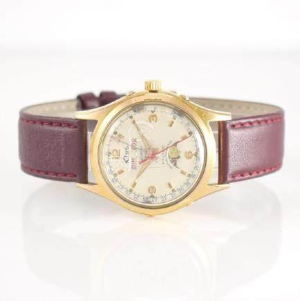 ELGÉ gents wristwatch with complete calendar & moon