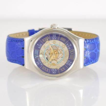 SWATCH rare platinum wristwatch model Trésor Magique