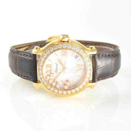 CHOPARD 18k gold & diamonds Happy Sport wristwatch