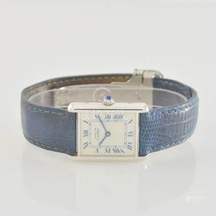 CARTIER wristwatch series Tank in silver