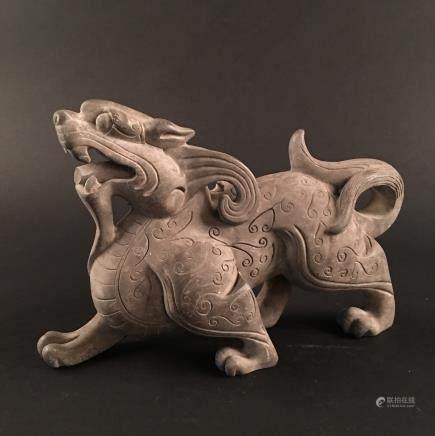 Chinese Pottery 'Ruishou' Figure
