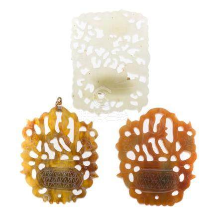 Three Chinese Jade Medallions