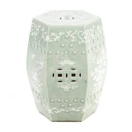 Chinese Export Celadon Porcelain Garden Seat