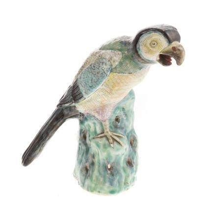 Chinese Export Porcelain Parrot