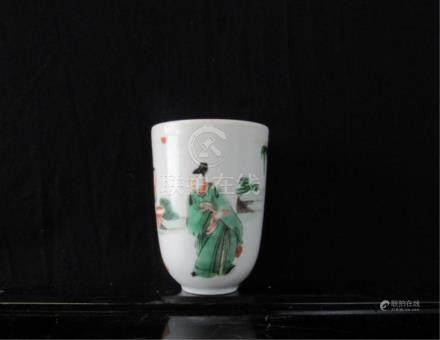 17-18Th Century Qing Dynasty Porcelain Cup