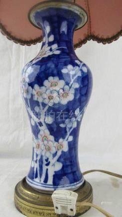 Beautiful Enameled Porcelain Vase Lamp