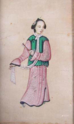 Chinese Qing Dynasty Silk Painting