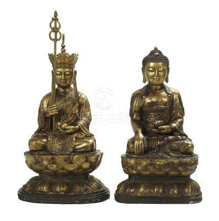 Two Gilt-Metal Buddha Figures
