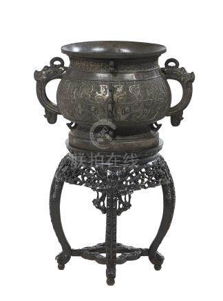 Large Chinese Bronze Censer