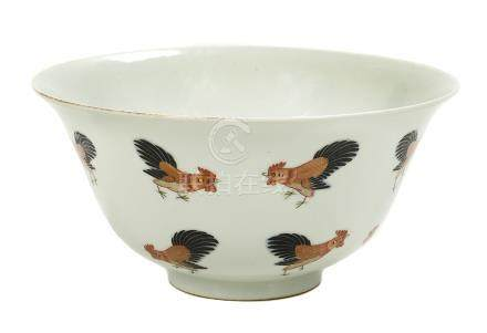 "Chinese Porcelain ""Chicken"" Bowl"
