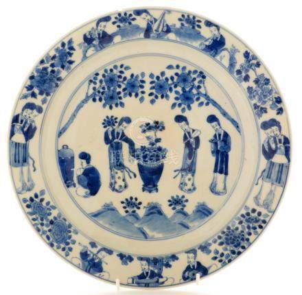 Chinese blue and white plate.