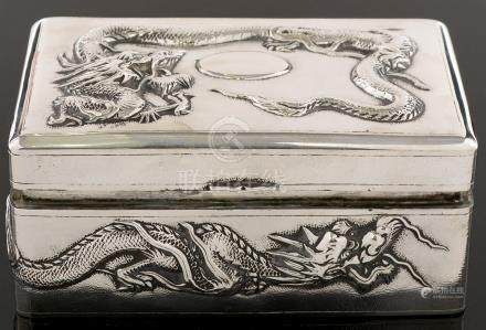 Chinese silver box by Hung Chong & Co