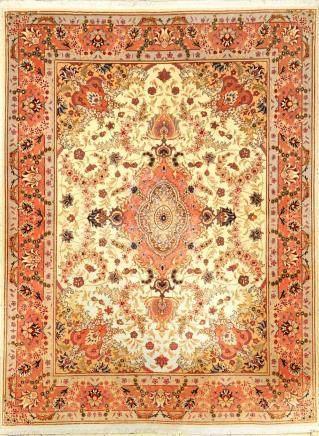 Tabriz 'Part Silk' rug fine, (50 RAJ), Persia,approx. 15