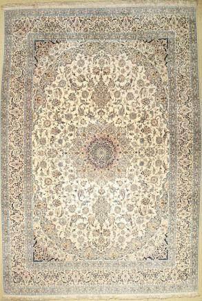 Nain Carpet fine (6LA), Persia, approx. 40 years, cork