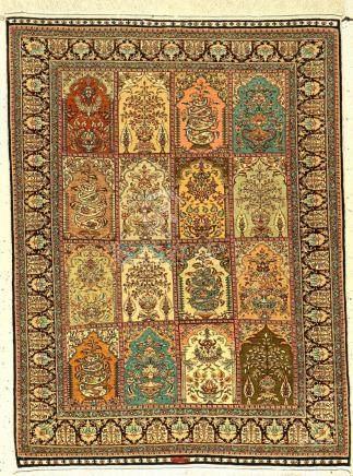 Fine silk 'Cinar' rug old, Turkey, approx. 40 years, pure