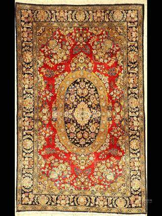 Silk Qum rug old, Persia, approx. 40 years, pure natural
