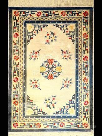 Silk China rug old, China, approx. 40 years, pure natural