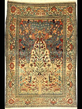 Tabriz rug, Persia, around 1900, wool on cotton
