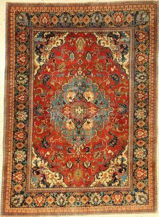 Tabriz rug old, Persia, around 1930, cork wool