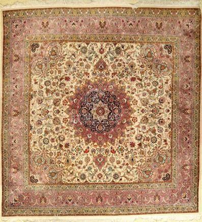 Tabriz rug old (50 RAJ), Persia, approx. 40 years, cork