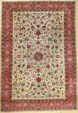 Tabriz carpet old (50 RAJ), Persia, approx. 60years, cork