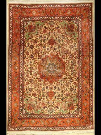 Tabriz carpet old, Persia, approx. 40 years, cork wool