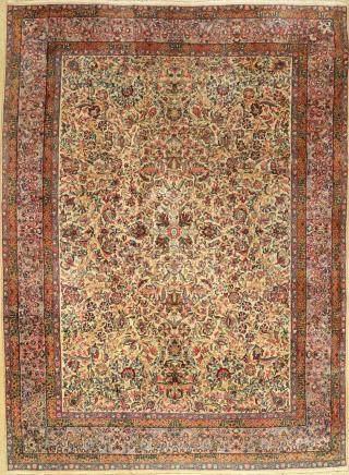 Kerman-Lawer carpet (US Re-Import), Persia, c.1900, cork
