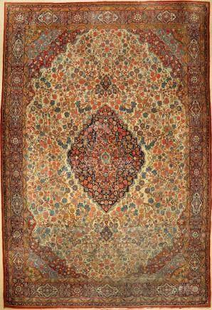 Keschan Dabir carpet, Persia, c. 1910, wool oncotton
