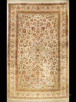 Egypt silk Keschan carpet, Egypt, approx. 50 years, pure