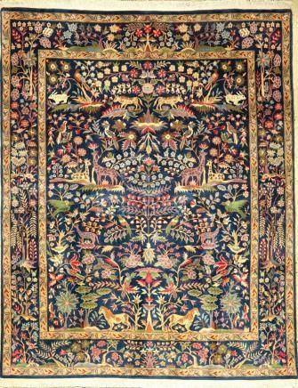 Yazd-Sherkat rug old, Persia, approx. 60 years, cork