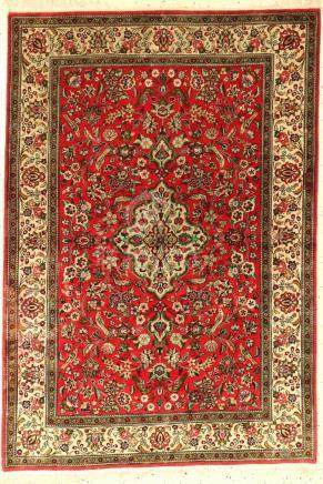 Qum silk rug, Persia, approx. 50 years, pure natural