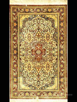 Silk China-Esfahan rug fine, China, very fine,approx. 40