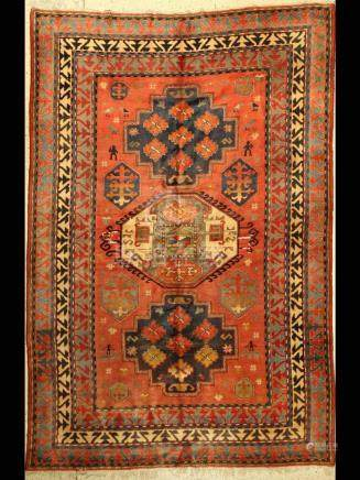 Tefzet carpet old, Germany, around 1930, wool on cotton