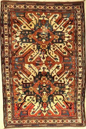 Tschelaberd rug antique (fragment), Caucasus, Eagle Kasak