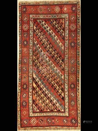 Striped Gendje rug antique, Caucasus, 19th century