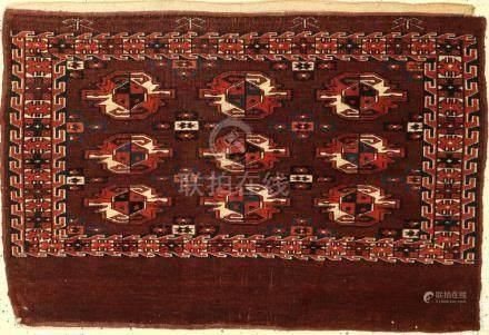 Yomud Chuval old, Turkmenistan, around 1890, wool on